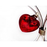 corazon mini 7cm rojo plat con herreria