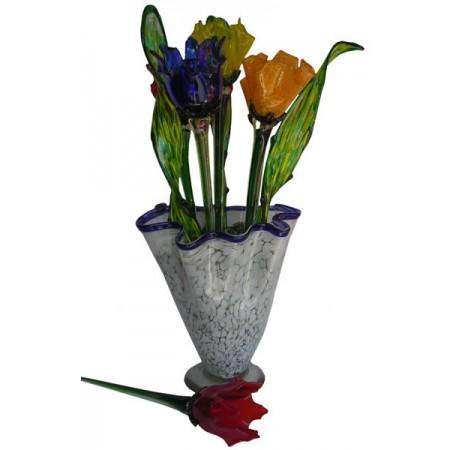 florero lechuga con flor