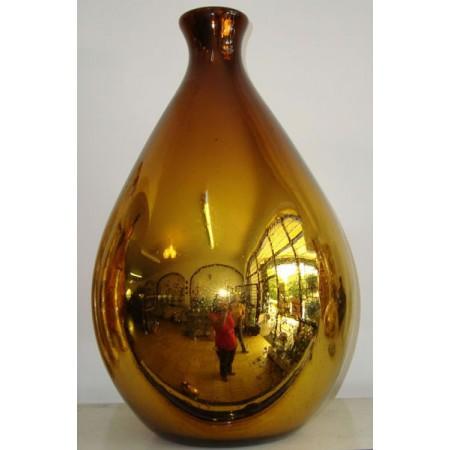 botella gota ambar plateada
