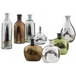 botellas plateadas