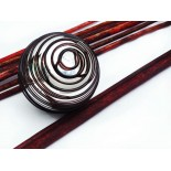esfera 12cm plata con hilos locos chocolate