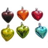 corazon mini 7cm plateados
