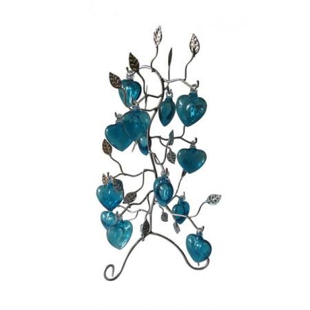arbol cromado con corazon mini