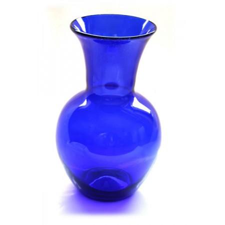 florero canta con cuello azul
