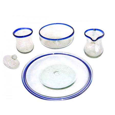 plato filo azul