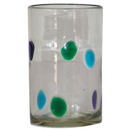 vaso agua con lunares