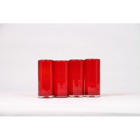 vaso high ball solido rojo