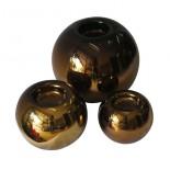 juego de esfera porta vela en chocolate