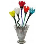 florero lechuga con flores