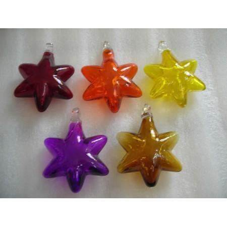 estrellas sopladas en colores tranparentes