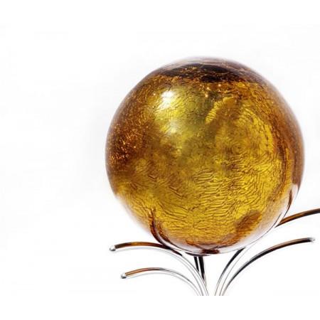esfera 20cm ambar craquelada